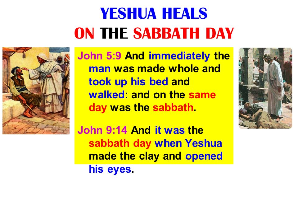 YESHUA HEALS ON THE SABBATH DAY