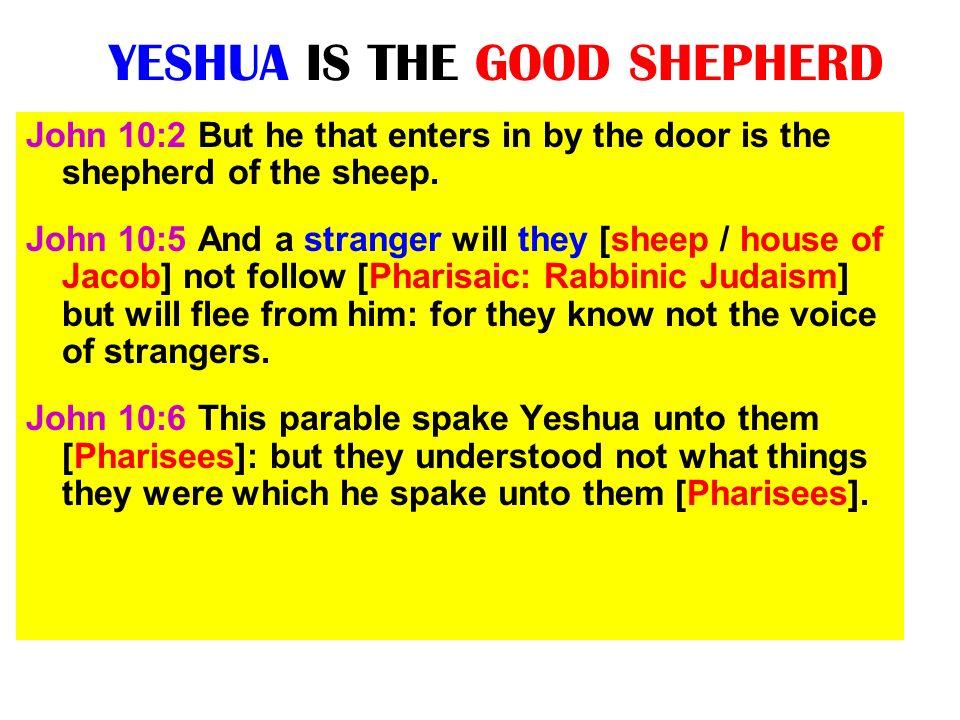 YESHUA IS THE GOOD SHEPHERD