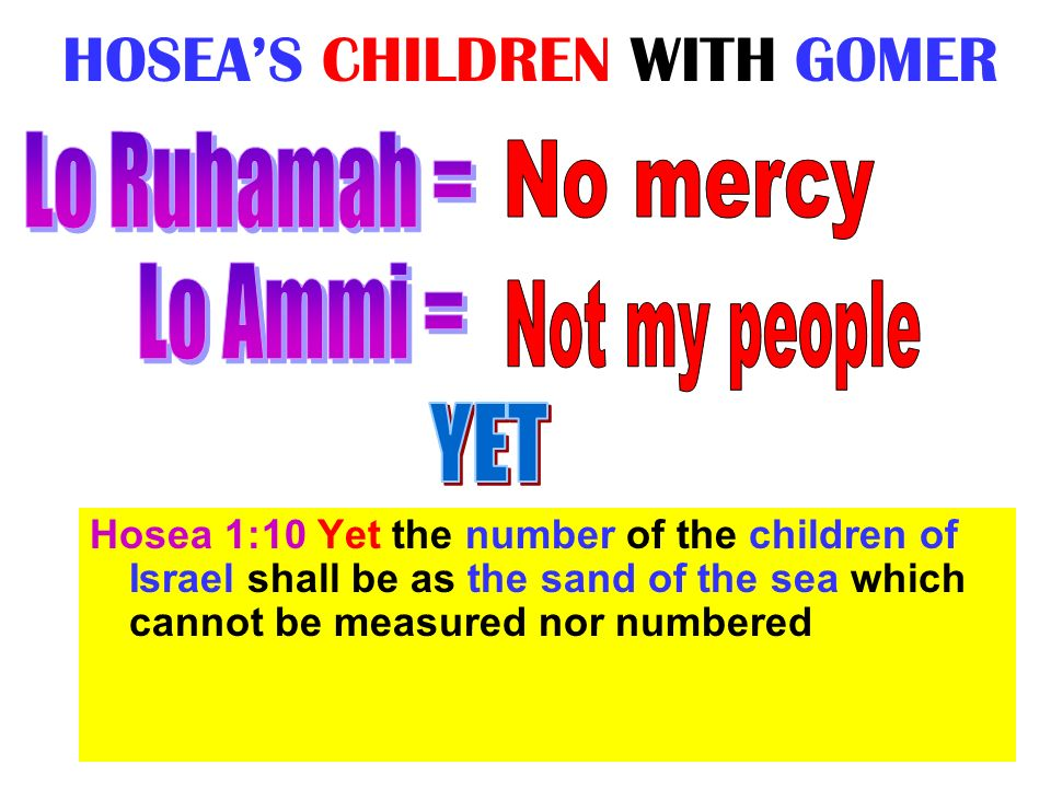 HOSEA'S CHILDREN WITH GOMER