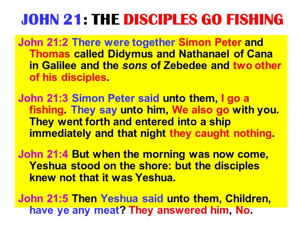 JOHN 21: THE DISCIPLES GO FISHING