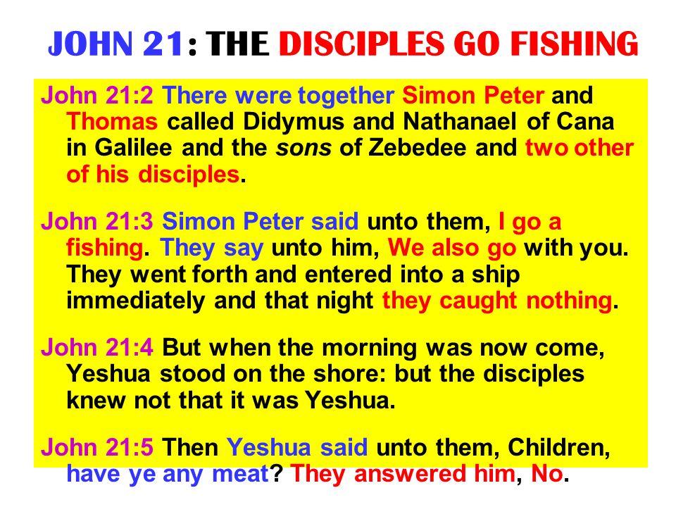 JOHN 21: THE DISCIPLES GO FISHING