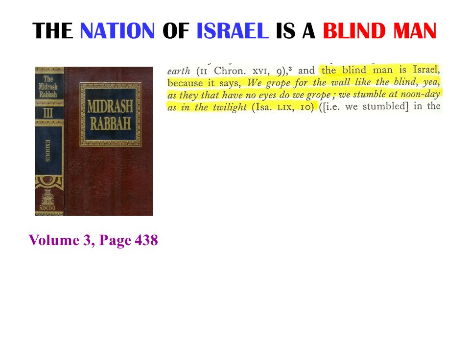 THE NATION OF ISRAEL IS A BLIND MAN