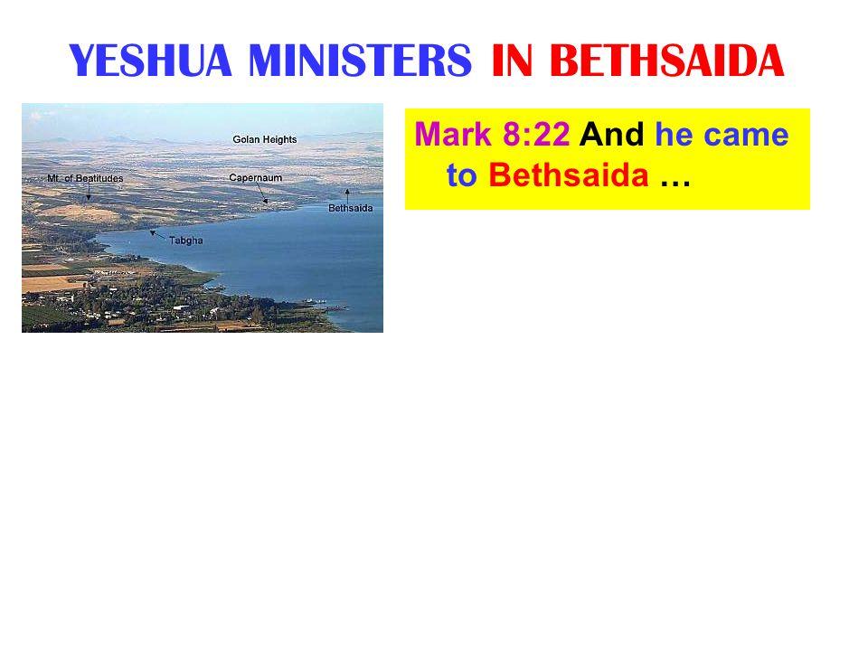 YESHUA MINISTERS IN BETHSAIDA