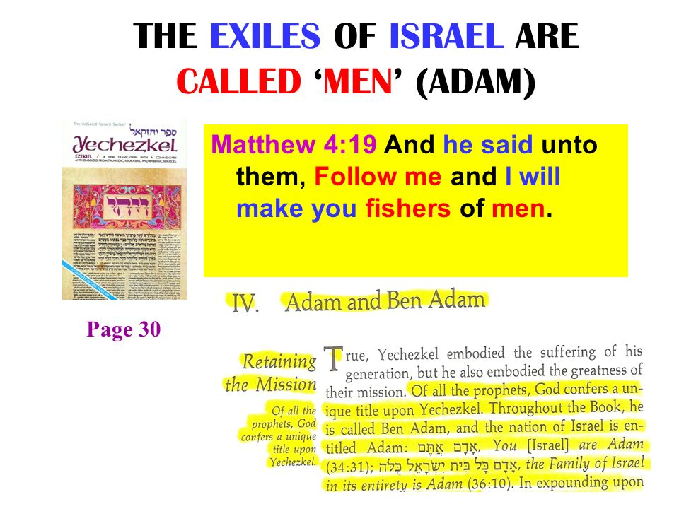 THE EXILES OF ISRAEL ARE CALLED 'MEN' (ADAM)