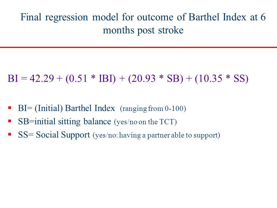 BI = 42.29 + (0.51 * IBI) + (20.93 * SB) + (10.35 * SS)