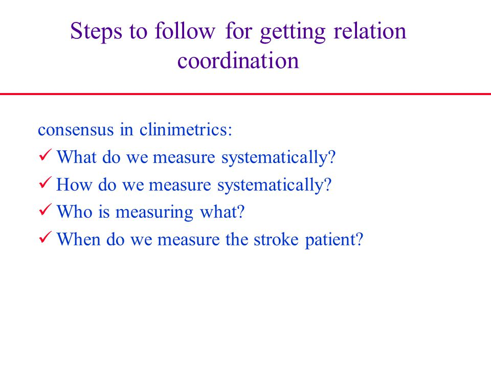 Steps to follow for getting relation coordination
