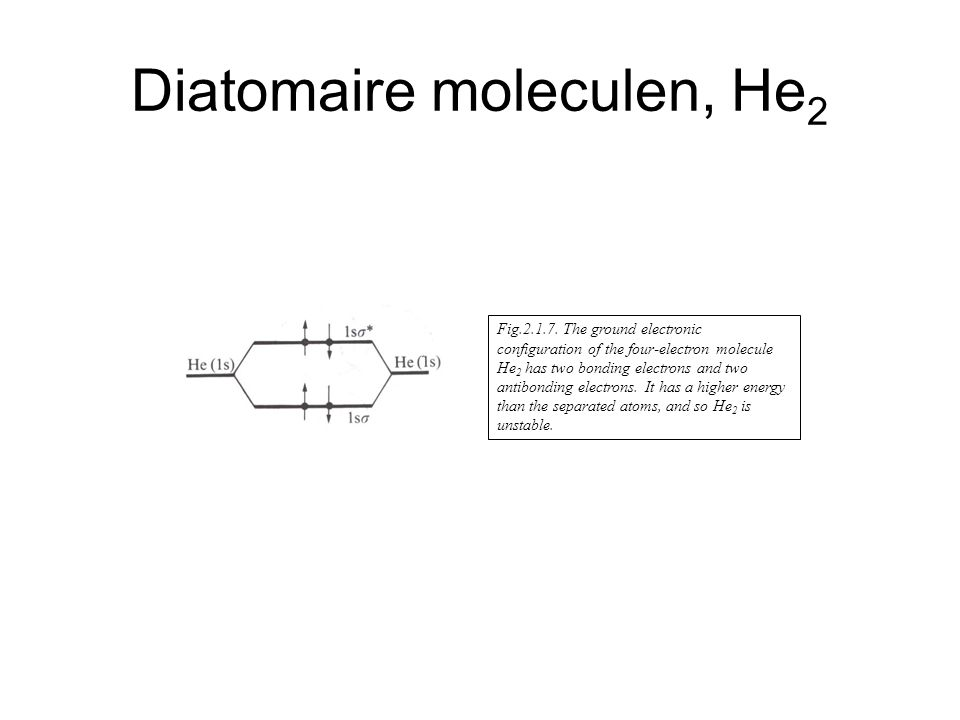 Diatomaire moleculen, He2