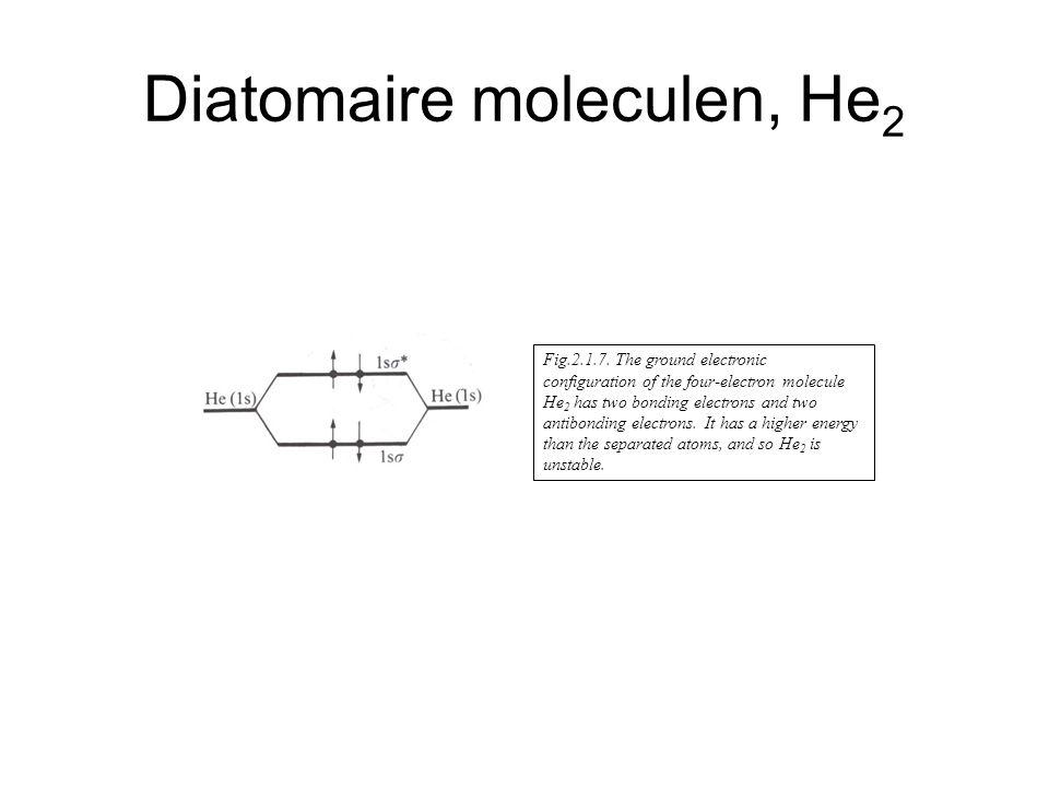 Diatomaire moleculen, He2