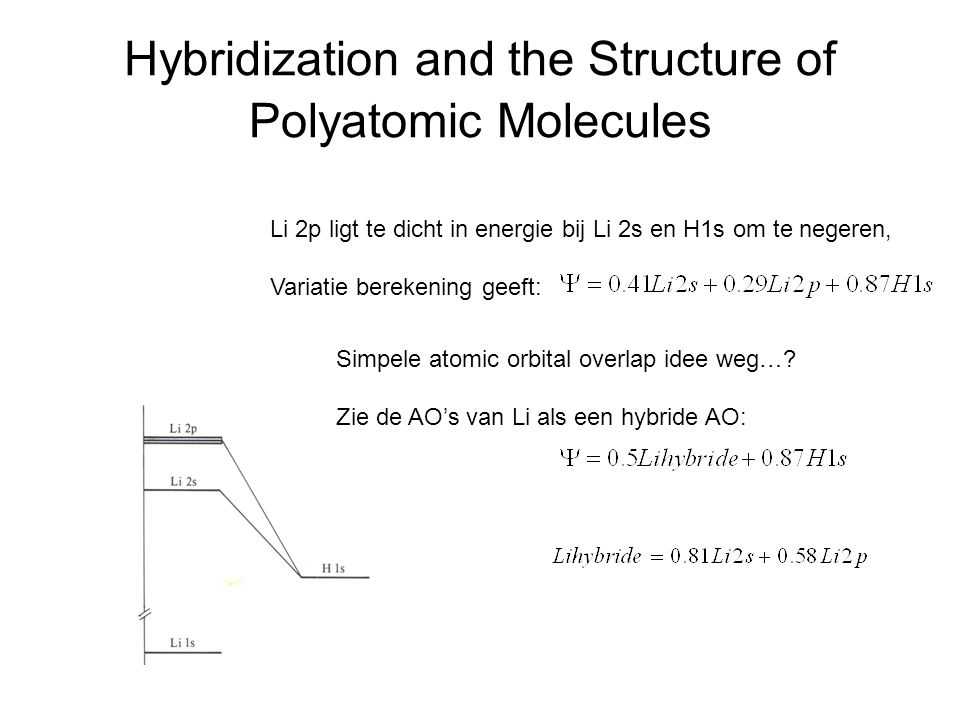 Hybridization and the Structure of Polyatomic Molecules