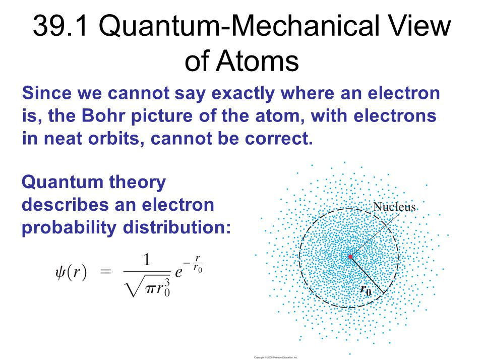 39.1 Quantum-Mechanical View of Atoms