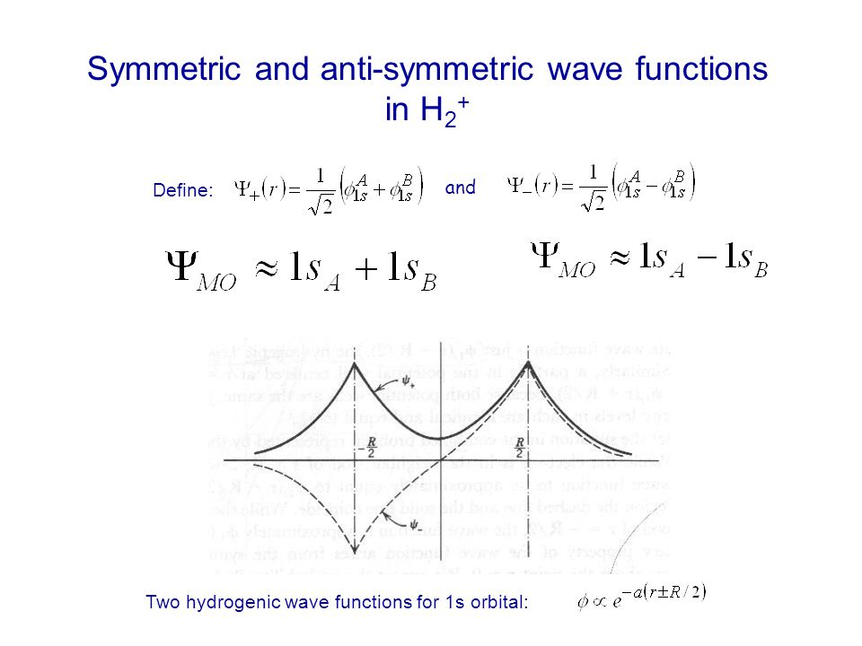 Symmetric and anti-symmetric wave functions