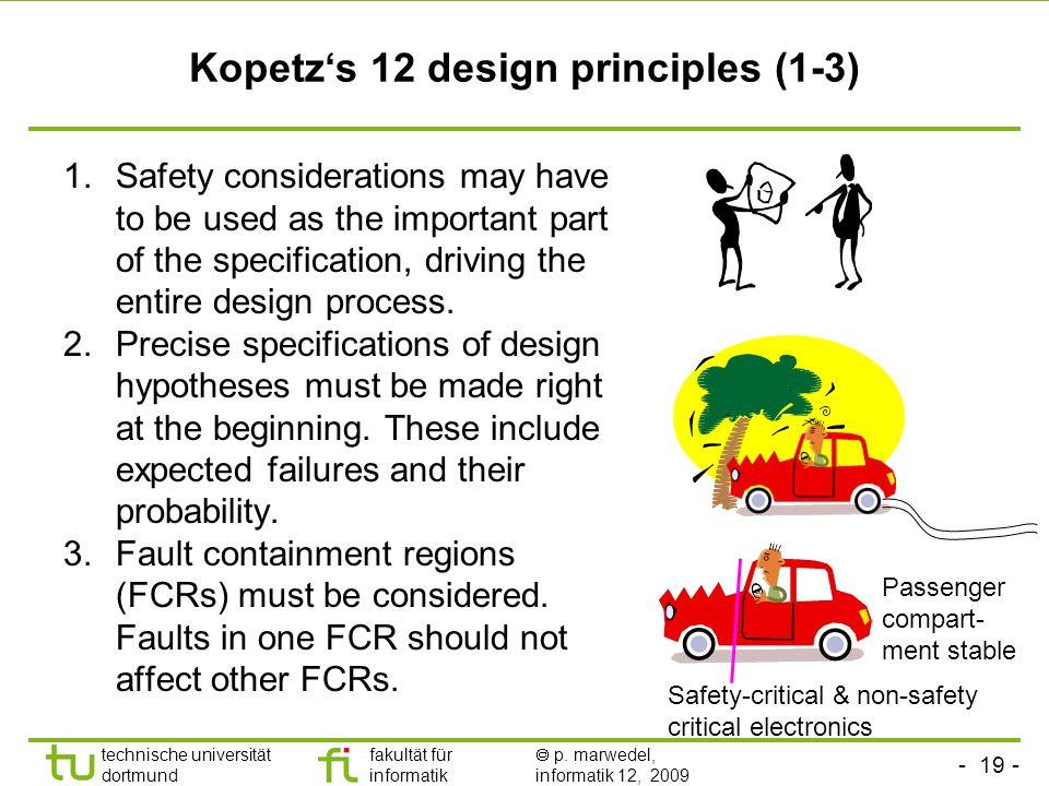 Kopetz's 12 design principles (1-3)