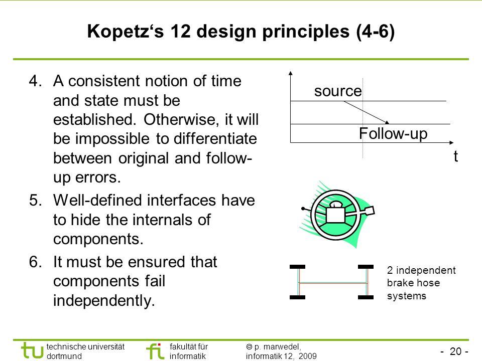 Kopetz's 12 design principles (4-6)