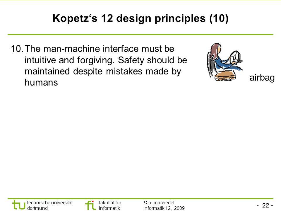 Kopetz's 12 design principles (10)