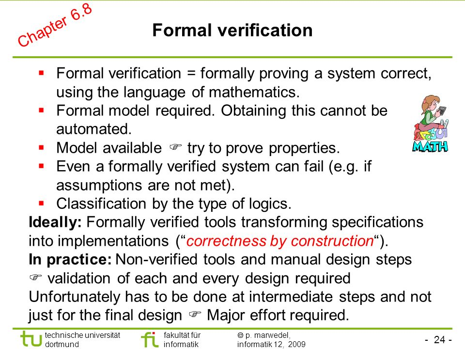 Formal verification Chapter 6.8