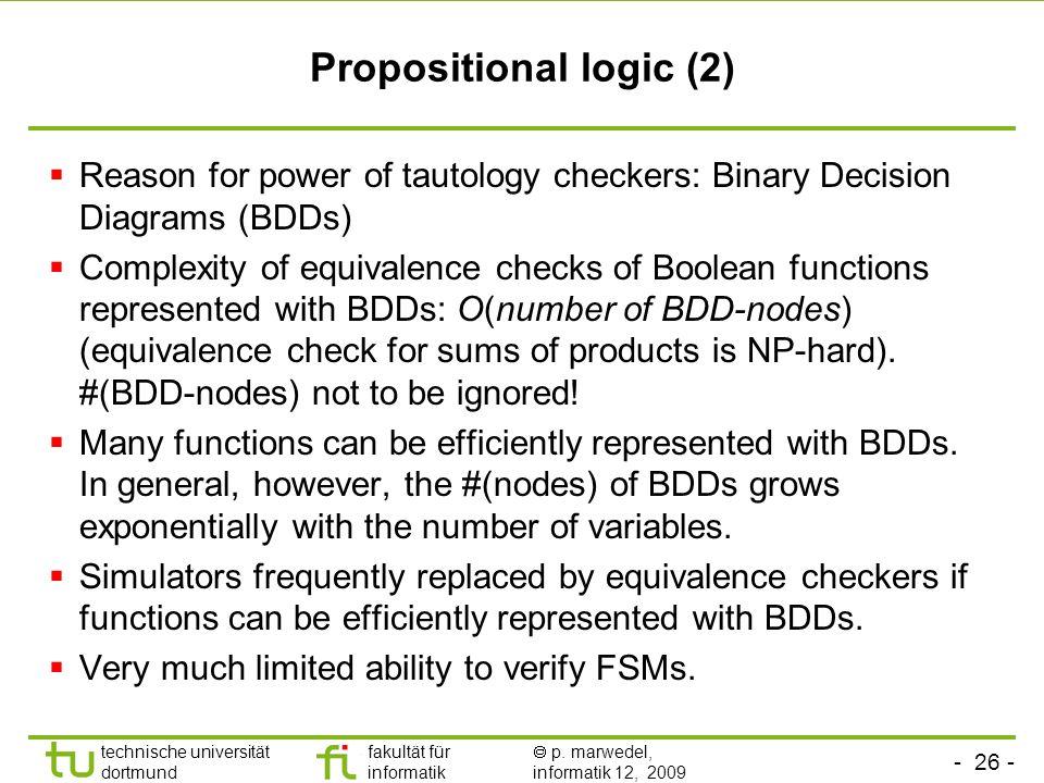 Propositional logic (2)