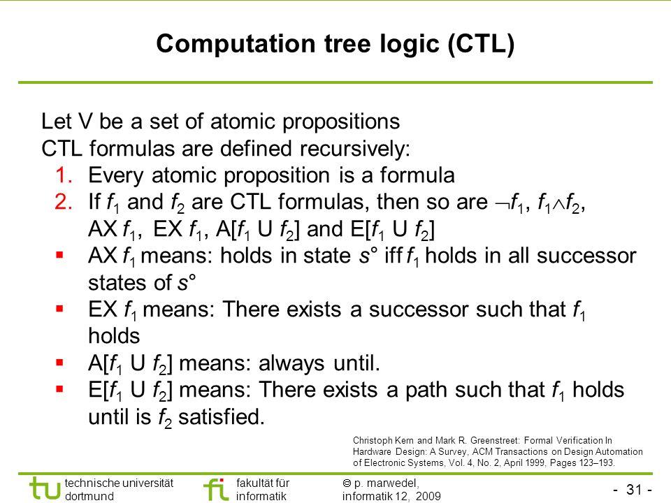 Computation tree logic (CTL)