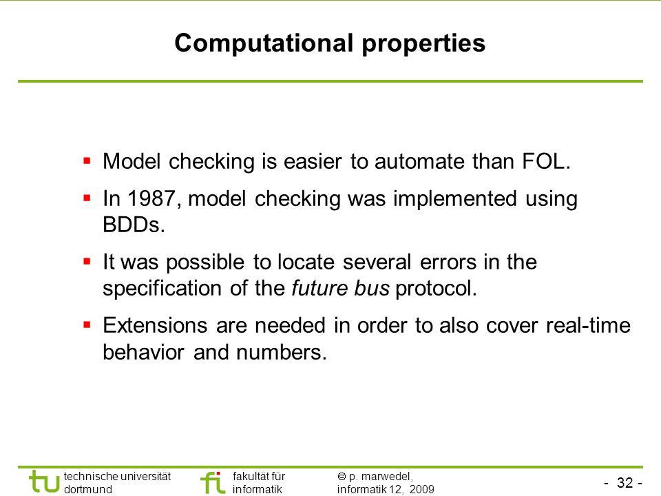 Computational properties