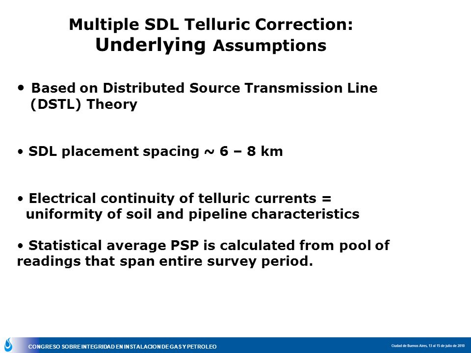 Multiple SDL Telluric Correction: Underlying Assumptions