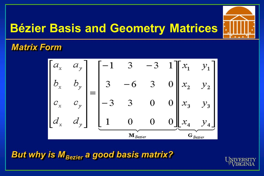 Bézier Basis and Geometry Matrices