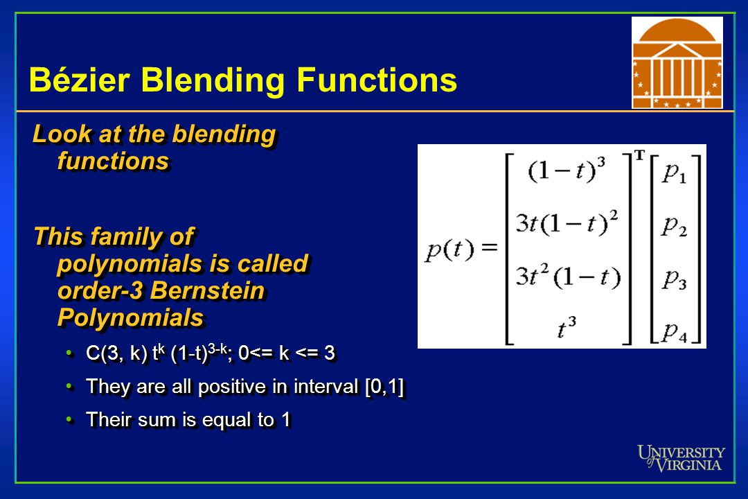 Bézier Blending Functions