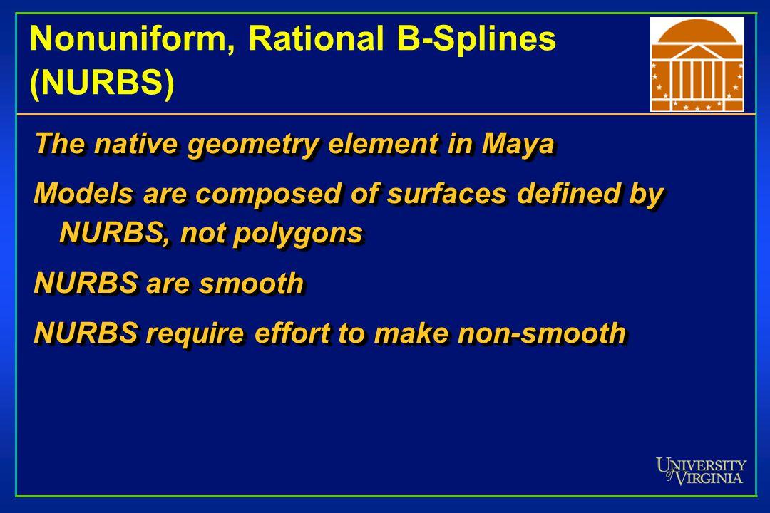Nonuniform, Rational B-Splines (NURBS)