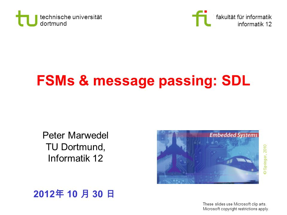 FSMs & message passing: SDL