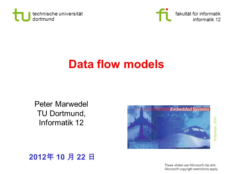 Peter Marwedel TU Dortmund, Informatik 12
