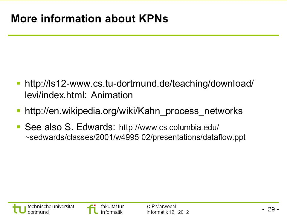 More information about KPNs