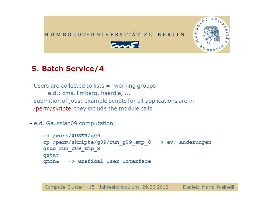 Batch Service/4 alle Kkk Users are collected to lists = working groups