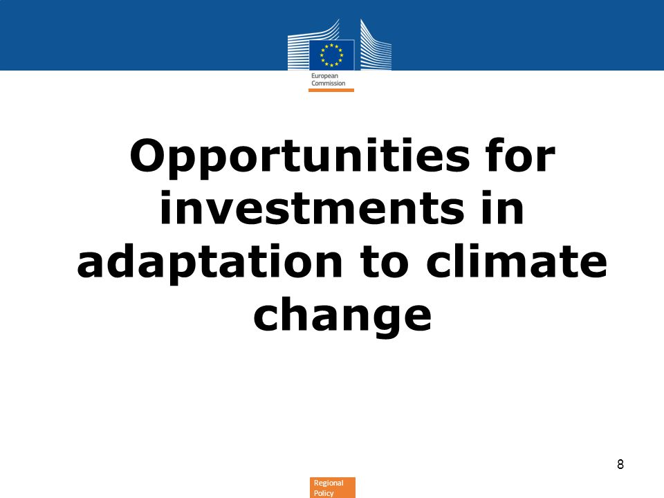 Opportunities for investments in adaptation to climate change