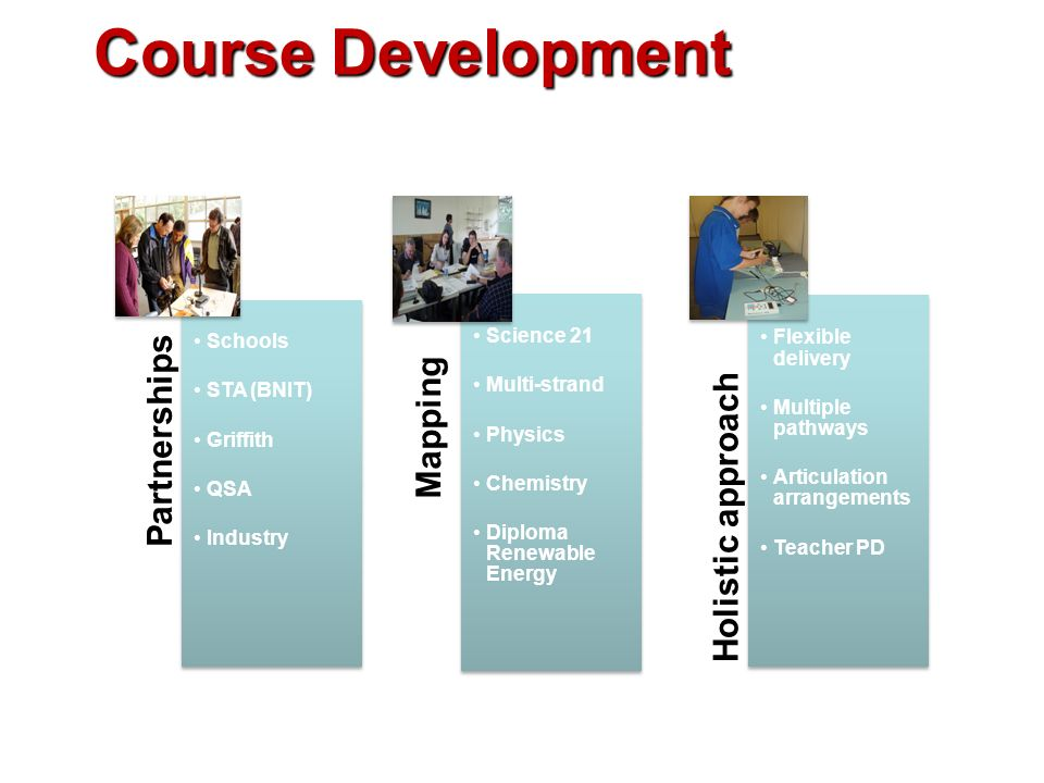 Course Development Schools STA (BNIT) Griffith QSA Industry Science 21