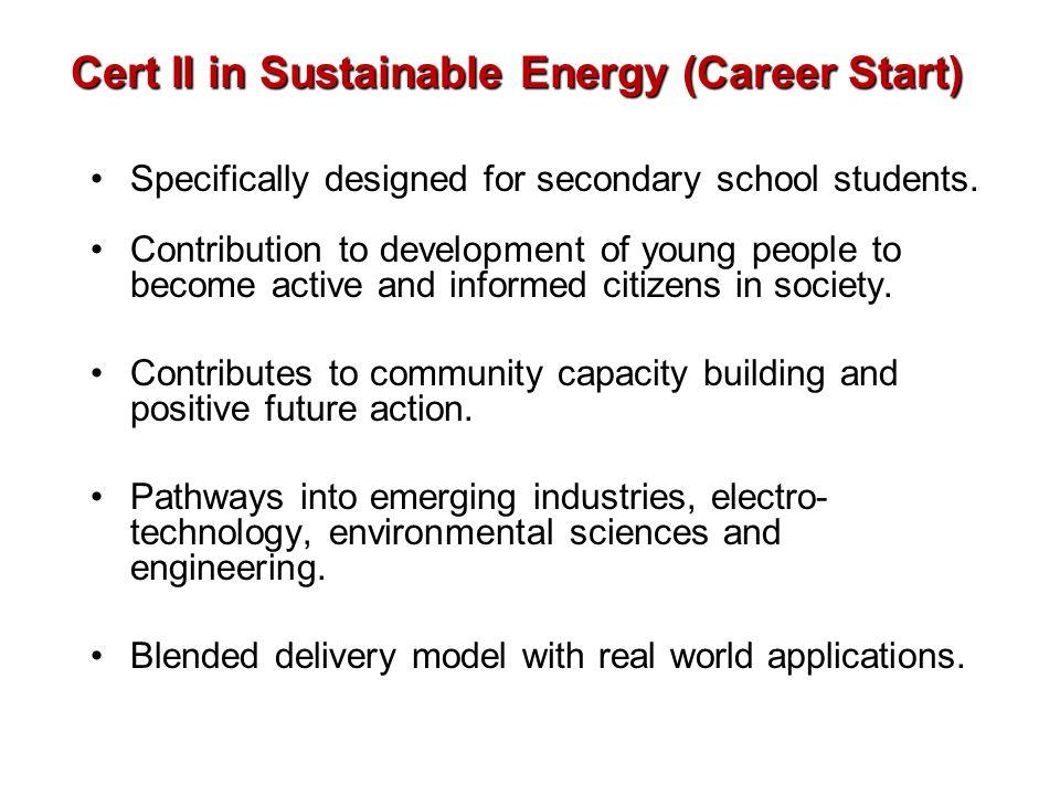 Cert II in Sustainable Energy (Career Start)