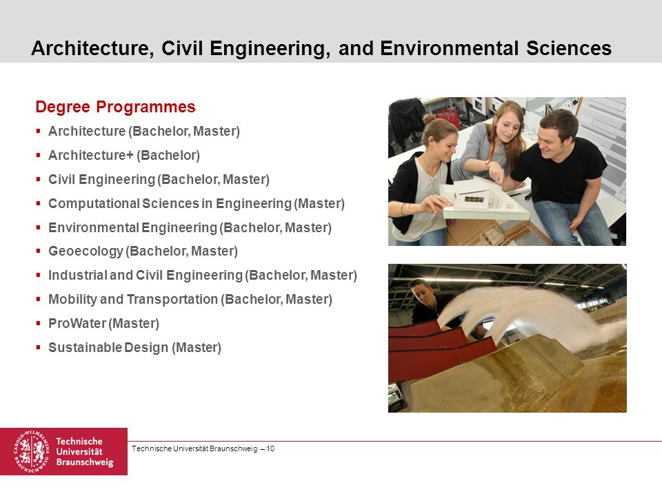 Architecture, Civil Engineering, and Environmental Sciences