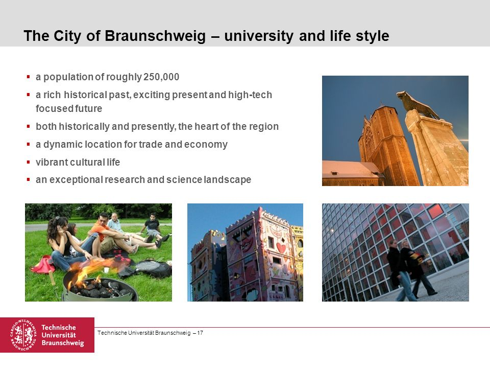 The City of Braunschweig – university and life style