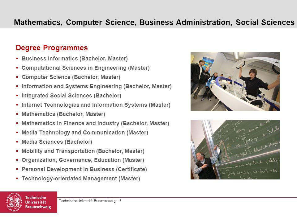 Mathematics, Computer Science, Business Administration, Social Sciences