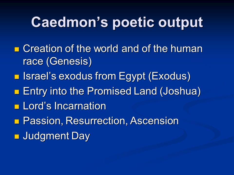 Caedmon's poetic output