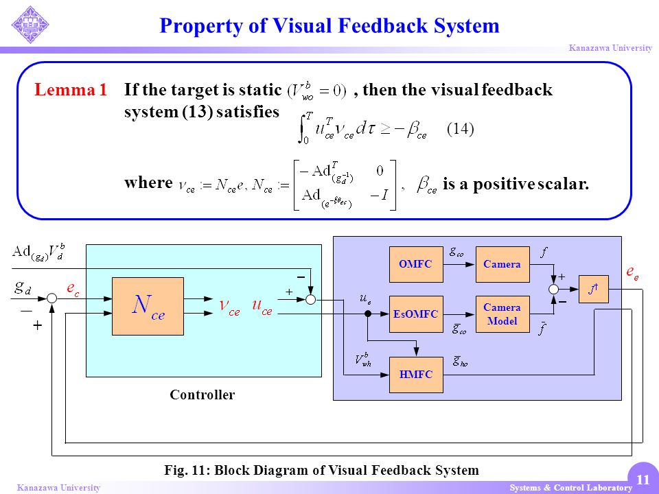 Property of Visual Feedback System