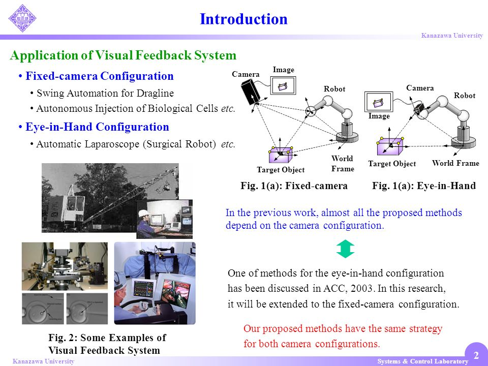 Introduction Application of Visual Feedback System