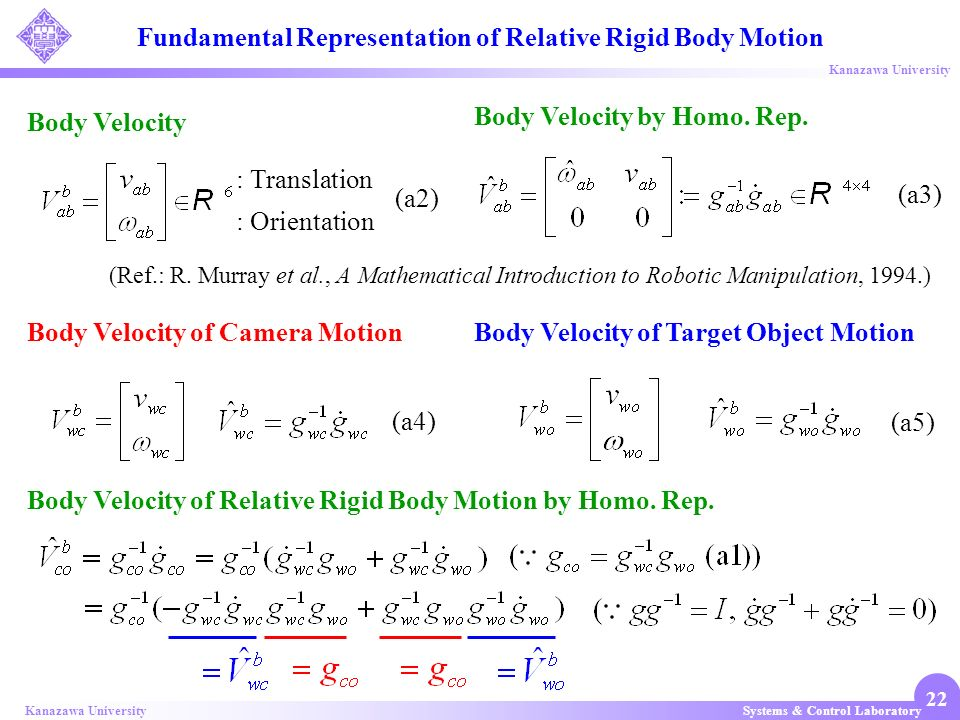 Fundamental Representation of Relative Rigid Body Motion