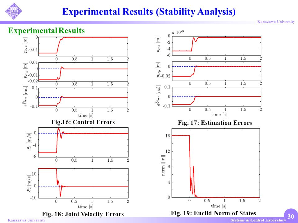 Experimental Results (Stability Analysis)