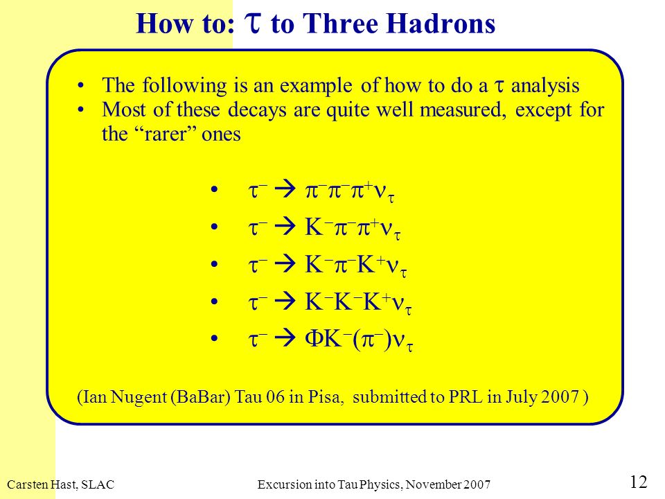 How to: t to Three Hadrons