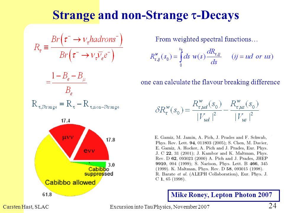 Strange and non-Strange -Decays