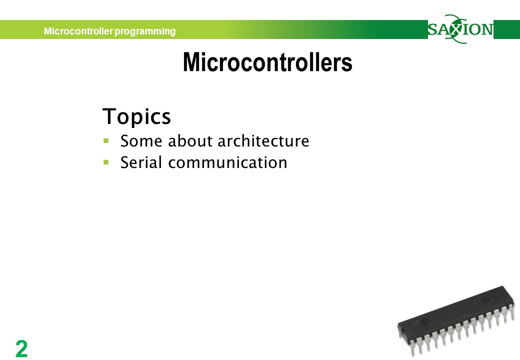 Microcontrollers A practical approach