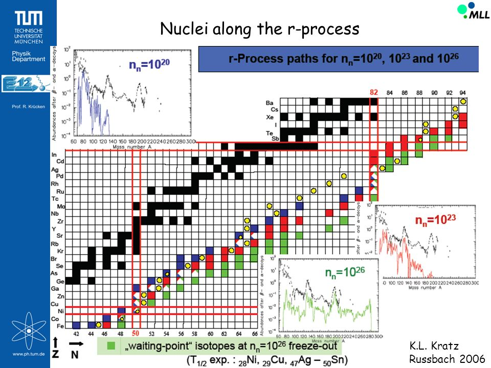 Nuclei along the r-process