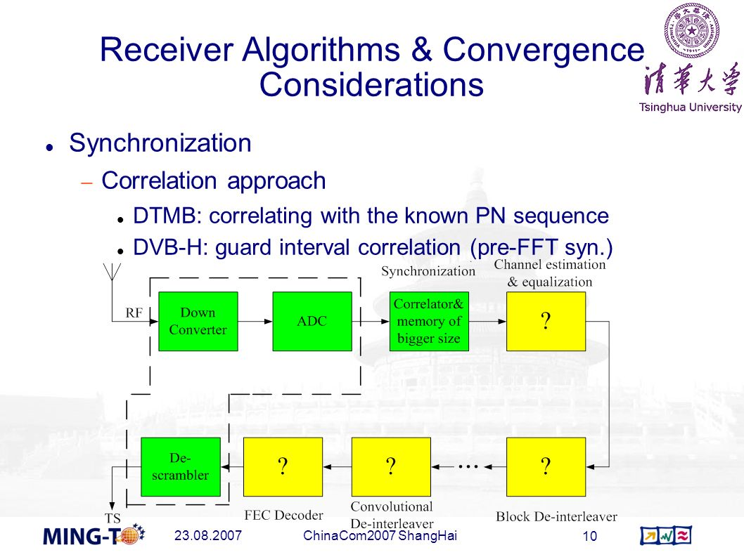 Receiver Algorithms & Convergence Considerations