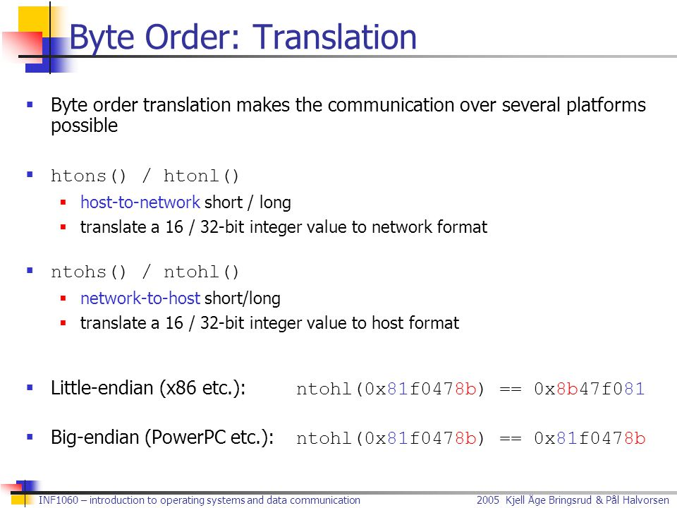 Byte Order: Translation
