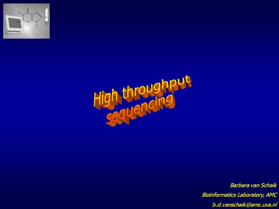 High throughput sequencing Barbera van Schaik