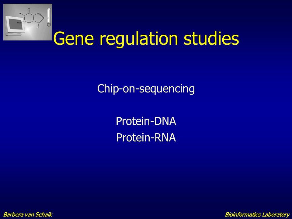 Gene regulation studies