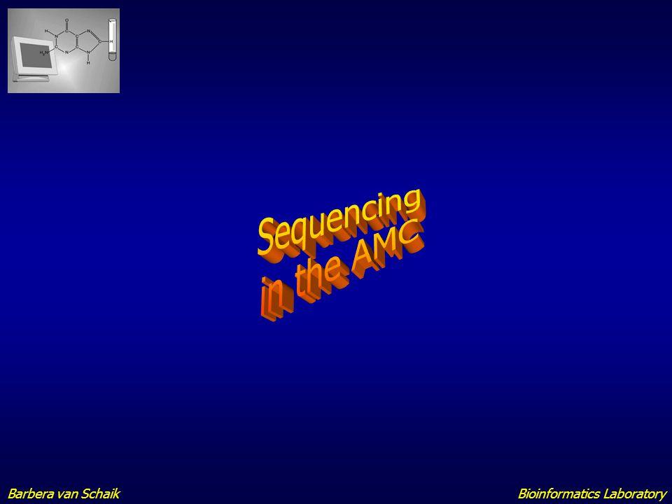 Sequencing in the AMC Barbera van Schaik Bioinformatics Laboratory